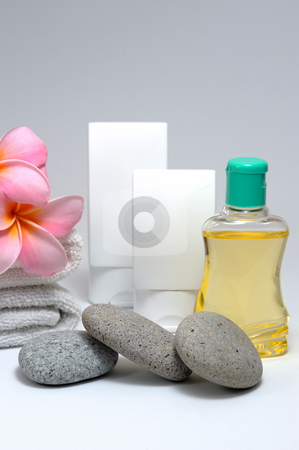 Spa set  stock photo, Spa set on white background by Jaggat Images