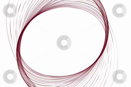 Glowing swirl stock photo, Abstract round shape on a white background by Iurii Osadchi