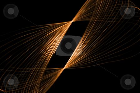Glowing swirl stock photo, Abstract glowing shape on a black background by Iurii Osadchi