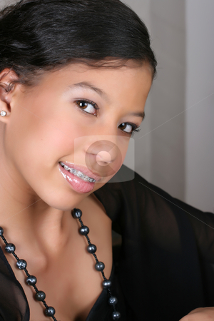 Young Female stock photo, Close up of a Beautiful brunette female teenager by Vanessa Van Rensburg