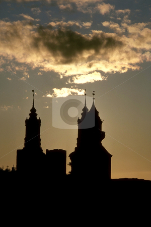 St. Mary's Cathedral stock photo, Sweden, Gotland, Visby, St. Mary's Cathedral (12th Century), by David Ryan