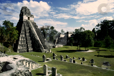 Temple 1, Tikal stock photo, Guatemala, Tikal, Temple I by David Ryan