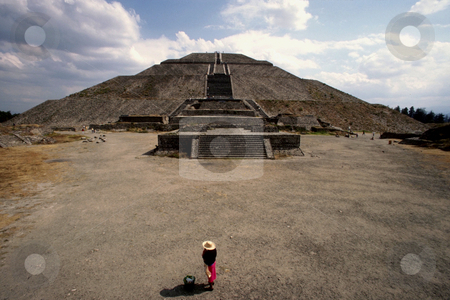 Pyramid of the Sun stock photo, Mexico, Mexico State, Teotihuacan, Pyramid of the Sun by David Ryan