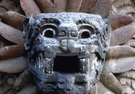 Quetzalcoatl stock photo, Mexico, Teotihuacan, Image of Quetzalcoatl by David Ryan