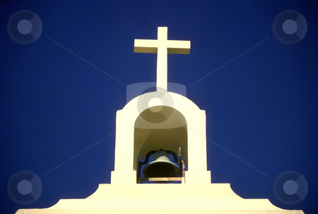 St. Vincent de Paul Church stock photo, USA, California, Santa Cruz County, Davenport, St. Vincent de Paul Church, bell tower by David Ryan
