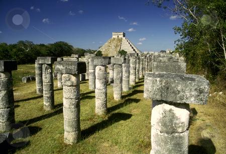 El Castillo stock photo, Mexico, Yucatan, Mayan Ruins of Chichen Itza,