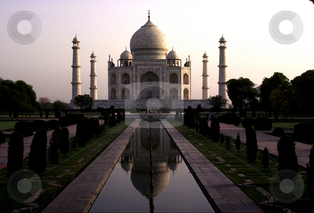 Taj Mahal stock photo, India, Agra, Taj Mahal at Dusk by David Ryan