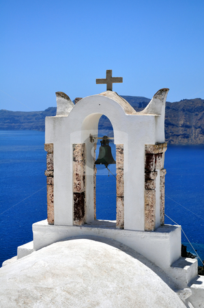 Chapel in Santorini Island stock photo, Travel photography: Chapel in the beautiful island of Santorini, Greece by Fernando Barozza