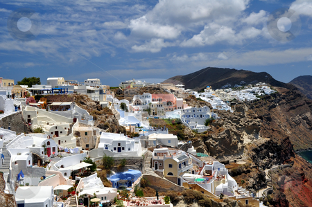 Santorini Island stock photo, Travel photography: Beautiful island of Santorini, Greece by Fernando Barozza