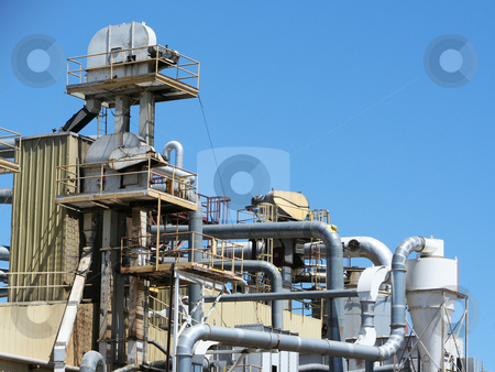 Function Only stock photo, Oil refinery in Wichita, Kansas by Margaret Roew