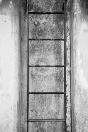 Fort Worden Bunker stock photo, Ladder at Fort Worden military bunker in Port Townsend Washington. by Travis Manley