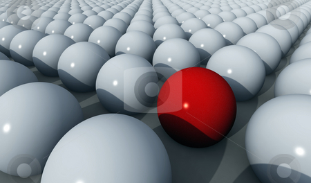 Balls at work stock photo, 1.400 balls in rows and columns by Tony Lott N??rnberger