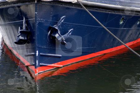 Take a bow stock photo, USA, Washington, Seattle, Lake Union, Bow of a boat by David Ryan