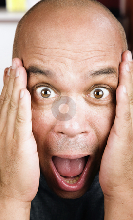 Screaming Man stock photo, Close up shot of screaming man's face by Scott Griessel