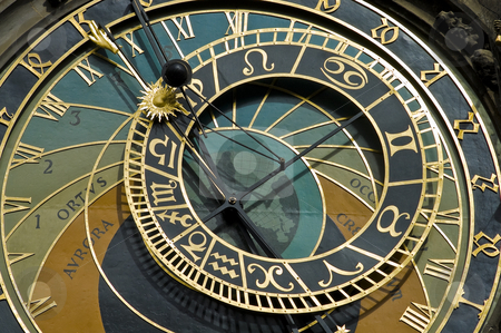 Prague's Astronomical Clock stock photo, Detail of Prague's Astronomical Clock, also known as The Orloj. by Anibal Trejo