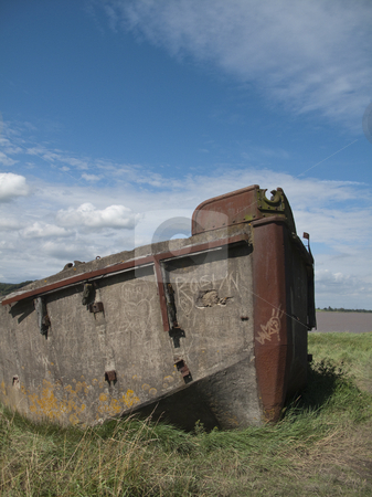 Boat - Shipwrecked stock photo, A shipwrecked boat in the Purton Hulks Graveyard, Gloucestershire by Stephen Clarke