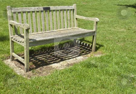 Park bench stock photo,  by Stephen Clarke
