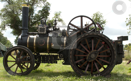 Traction Steam Engine stock photo, A lovely vintage traction steam engine by Stephen Clarke