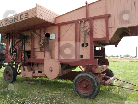 Threshing Machine stock photo, An ld farming traction threshing machine by Stephen Clarke