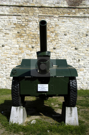 German 105mm Howitzer stock photo, Serbia, Belgrade, Kalemegdan Park, Belgrade Fortress, Tank Museum, German 105MM Howitzer by David Ryan