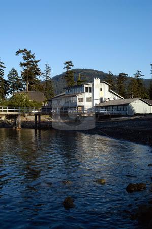 Bartwood Lodge stock photo, USA, Washington, Orcas Island, East Sound, Bartwood Lodge by David Ryan