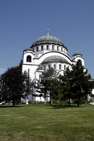 St. Sava Temple stock photo, Serbia, Belgrade, Temple of St. Sava (Serbian Orthodox), Largest Orthodox church in the world (under construction) by David Ryan