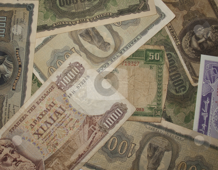 Foreign Currency stock photo, A collection of foreign currency notes by Stephen Clarke
