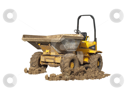 Dumper Truck with Muddy Wheels stock photo, A Dumper Truck on a construction site with muddy wheels by Stephen Clarke