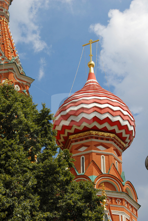 St.Basil's Cathedral in Moscow stock photo, St.Basil's Cathedral fragment in Moscow on Red Square by Julija Sapic