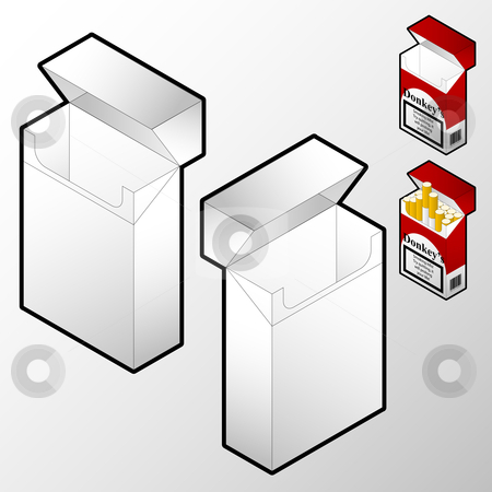Cigarette box  stock vector clipart,  by Jaka Verbic Miklic