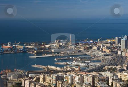 Port of Genoa, panorama stock photo, Port of Genova landscape taken with polarizer filter by ANTONIO SCARPI