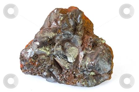 Ematite stock photo, Hematite mineral from Elba isle isolated on white background by ANTONIO SCARPI