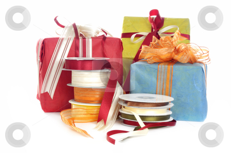 Gifts and Decoration tape stock photo, Gifts and Decoration tabe by Carmen Steiner