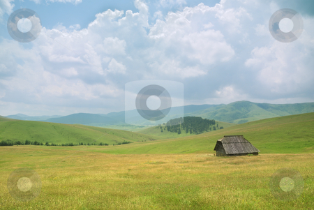 Old house in western Serbia stock photo, An old house on mountain Zlatibor, famous tourist resort in western Serbia. by Ivan Paunovic