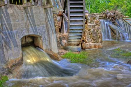 Mill on Big Raccoon Creek in HDR stock photo, Mill located on Big Raccoon Creek in Bridgeston, Indiana done in HDR by Dennis Crumrin