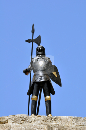 Knight armor, Rhodes. stock photo, Armor at the medieval fortress of Rhodes, Greece by Fernando Barozza