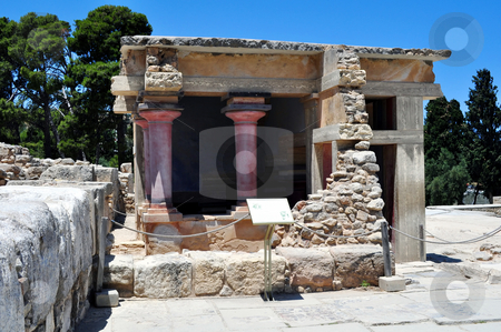 Archaeological site of Knossos. Minoan Palace. Crete. stock photo, Travel photography: Ancient ruins: Knossos Palace in Crete, Greece by Fernando Barozza