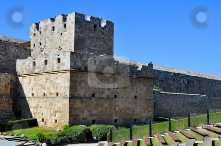 Medieval fortress of Rhodes. stock photo, Travel photography: Old town: ancient Rhodes fortress, island of Rhodes, Greece by Fernando Barozza