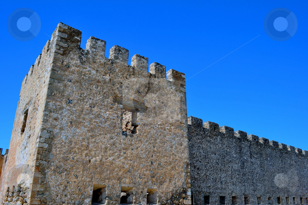 Frangocastello castle. stock photo, Travel photography: Frangocastello: venetian castle on the south coast of Crete. by Fernando Barozza