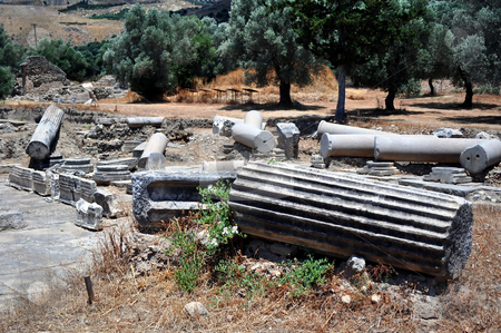 Praetorium. Archaeological site of Gortyn stock photo, Travel photography: Praetorium. Archaeological site of Gortyn, Crete, Greece by Fernando Barozza