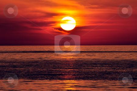 Sunset. Crete, Greece. stock photo, Sunset in the Mediterranean. Island of Crete, Greece. by Fernando Barozza