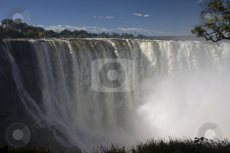 Victoria Falls stock photo, A shot of one of the falls at Victoria Falls, Zambia and Zimbabwe by Darren Pattterson