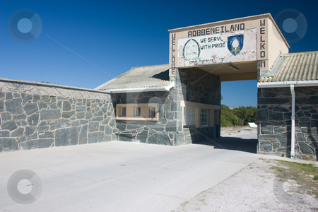 Robben Island entrance stock photo, Entrance to Robben Island Prison where Nelson Mandela was held captive by Darren Pattterson