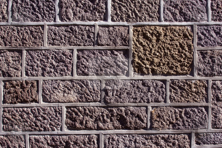 Stone wall stock photo, Close up of the stone wall of a historical building by Darren Pattterson