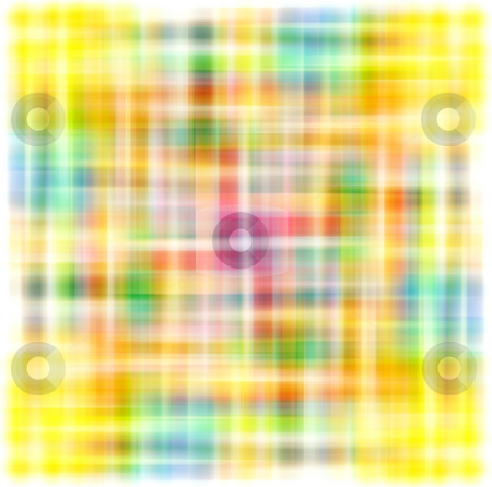 Abstract blur pattern stock photo, Texture of blur tartan lines in bright colors by Wino Evertz