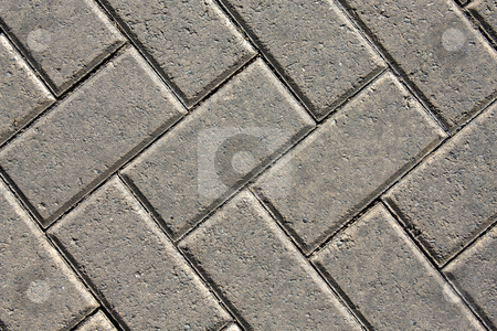 Pavement stock photo, Close up of a brick uniformed patterned pavement by Darren Pattterson