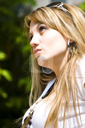 Beautiful young woman portrait stock photo, Beautiful young woman outdoor portrait by Desislava Dimitrova