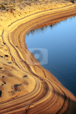 Oasis stock photo, Oasis in a desert zone in Spain by Bernardo Varela
