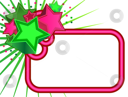 Retro Stars banner stock vector clipart, Retro Stars banner on white background by x7vector