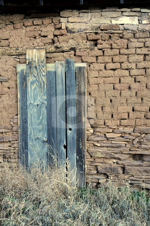 La Cueva Door stock photo, An old door on the side of La Cueva Mill by Brenton Kingsbauer